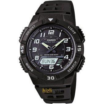 Casio นาฬิกา SOLAR POWER SPORT สีดำ สายเรซิ่น รุ่น AQ-S800W-1BVDF