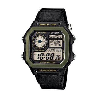 เสนอราคา Casio Sport นาฬิกาข้อมือผู้ชาย สายผ้าสปอร์ต รุ่น AE-1200WHB-1B