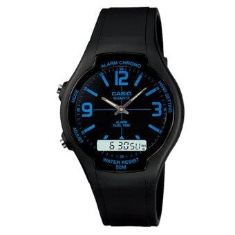 Casio Standard นาฬิกาข้อมือสายเรซิ่น 2 ระบบ รุ่น AW-90H-2B
