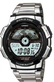 Casio Standard นาฬิกาข้อมือผู้ชาย สายสแตนเลส รุ่น AE-1100WD-1AVDF - สีเงิน/ดำ