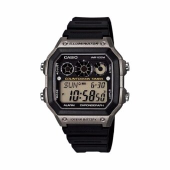 Casio Standard นาฬิกาข้อมือผู้ชาย สายเรซิ่น สีดำ รุ่น AE-1300WH-8AVDF