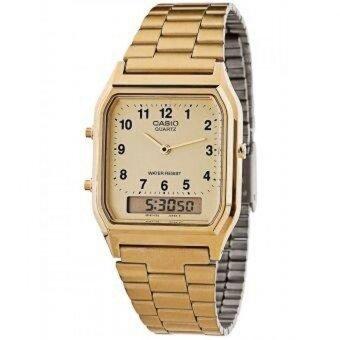 Casio นาฬิกาข้อมือ Standard Analog-Digital รุ่น AQ-230GA-9BMQD - สีทอง