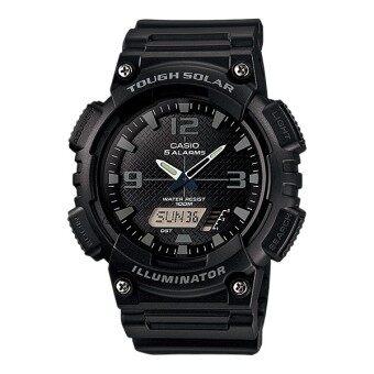 Casio Standard นาฬิกาข้อมือผู้ชาย สีดำ/เทา สายเรซิ่น รุ่น AQ-S810W-1A2VDF