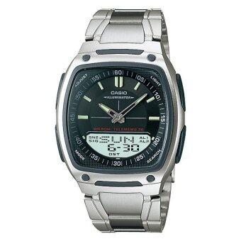 Casio Standard นาฬิกาข้อมือผู้ชาย สีดำ สายแสตนเลส รุ่น AW-81D-1A