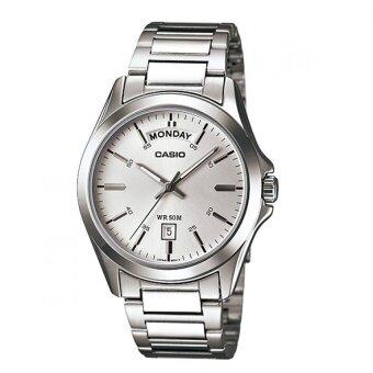 Casio นาฬิกาข้อมือผู้ชาย สีเงิน สายสแตนเลส รุ่น Standard Gent MTP-1370D-7A1VDF