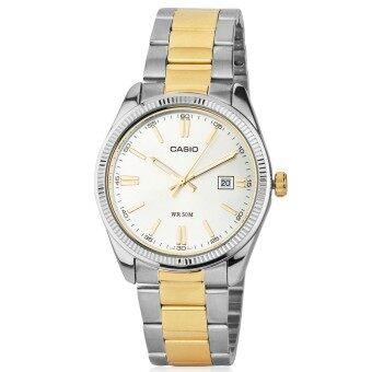 2561 Casio นาฬิกาข้อมือ สองกษัตริย์ สายสแตนเลส รุ่น Standard Gent MTP-1302SG-7AVDF