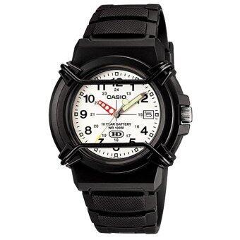 ราคา Casio Standard นาฬิกาข้อมือสายเรซิ่น หน้าปัดขาว รุ่น HDA-600B-7B