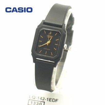 Casio Standard นาฬิกาข้อมือผู้หญิง รุ่น LQ-142-1EDF (Black)