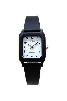 Casio Standard นาฬิกาข้อมือสุภาพสตรี สายเรซิ่น รุ่น LQ-142-7BDF - สีดำ