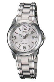 Casio Standard นาฬิกาข้อมือผู้หญิง สายสแตนเลส รุ่น LTP-1215A-7B2DF - สีเงิน/ขาว