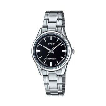 Casio Standard นาฬิกาข้อมือสุภาพสตรี สายสแตนเลส รุ่น LTP-V005D-1AUDF - สีเงิน