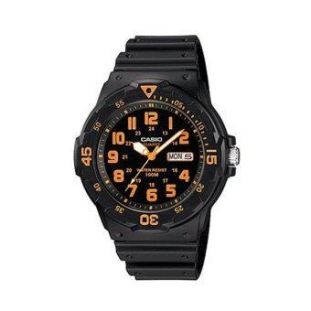 ราคา Casio Standard นาฬิกาข้อมือผู้ชาย สีดำ สายเรซิ่น รุ่น MRW-200H-4B