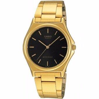 CASIO Standard นาฬิกาข้อมือผู้ชาย สีทอง/ดำ สายสแตนเลส รุ่น MTP-1130N-1ARDF