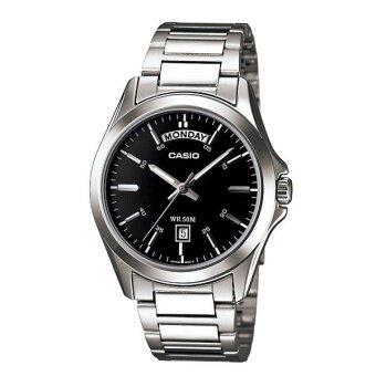 Casio Standard นาฬิกาข้อมือสุภาพบุรุษ สายสแตนเลส รุ่น MTP-1370D-1A1VDF - Silver