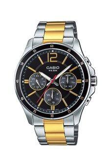 Casio Standard นาฬิกาผู้ชาย สายสเตนเลส รุ่น MTP-1374SG-1AV - Black ...