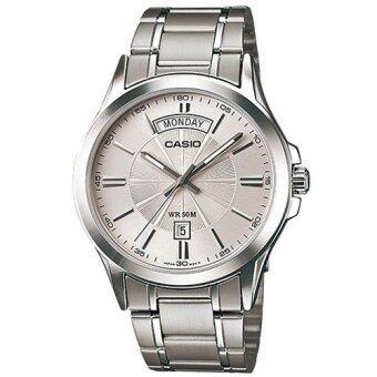 รีวิวพันทิป Casio Standard นาฬิกาข้อมือผู้ชาย สีเงิน สายสแตนเลส รุ่น MTP-1381D-7AVDF