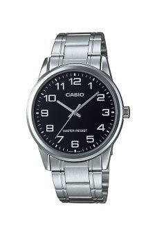 Casio Standard นาฬิกาข้อมือสุภาพบุรุษ สายแสตนเลส รุ่น MTP-V001D-1BUDF - สีดำ
