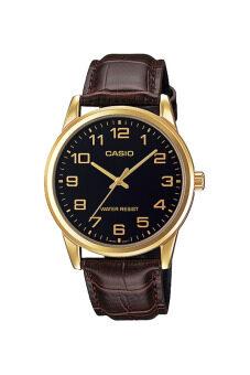 Casio Standard นาฬิกาข้อมือสุภาพบุรุษ รุ่น MTP-V001GL-1BUDF - สีดำ/ทอง