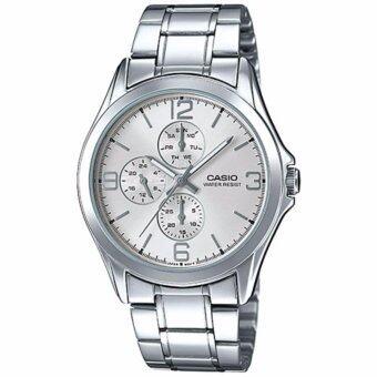 ต้องการขาย Casio Standard นาฬิกาข้อมือผู้ชาย สีเงิน สายสแตนเลส รุ่น MTP-V301D-7AUDF