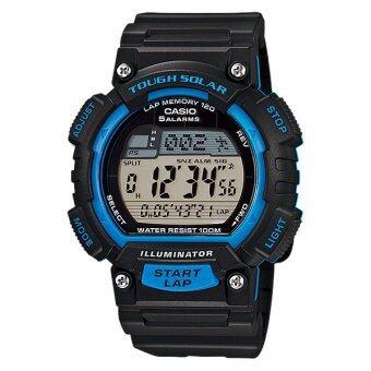 ประเทศไทย Casio Standard Solar นาฬิกาข้อมือผู้ชาย สายเรซิ่น รุ่น STL-S100H-2A