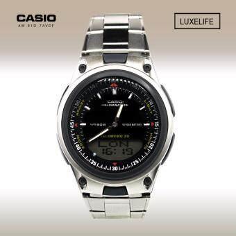 CASIO นาฬิกาข้อมือผู้ชาย Telememo 2 ระบบ รุ่น AW-80D-1AVDF