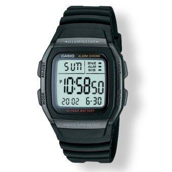 Casio W-96H-1BV  ของแท้ ประกันศูนย์ 1 ปี นาฬิกาผู้ชายสายยาง