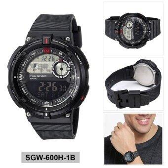 Casio Watch Outgear Twin Sensor Black Resin Case Resin Strap Mens NWT + Warranty SGW-600H-1B