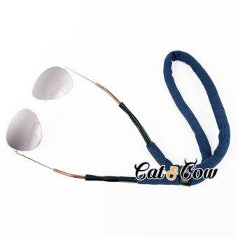 Cat & Cow รุ่น FC46-DB, #สายคล้องแว่นตา Eyewear Retainerสีน้ำเงิน