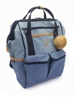 CBA กระเป๋าเป้ สะพายหลัง Color Backpack (กรม/ฟ้าเทา/ฟ้า/แทนอ่อน)