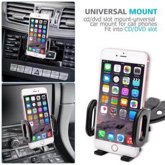 ที่วางโทรศัพท์ในรถ CD-Slot Car Mount มาพร้อมครีบยึดช่องซีดี +หัวจับแบบใหม่ (black) - 2