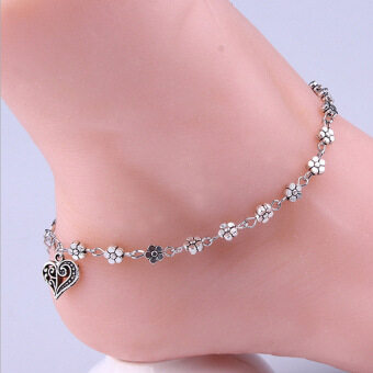 Chain Anklet Ankle Bracelet Barefoot Sandal Foot Jewelry Silver Plated - Intl