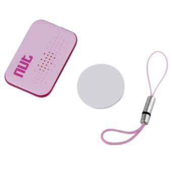 CHEER Bluetooth Tracer GPS Locator Alarm Key Pet Dog Anti-lostFinder Tracker Pink - intl