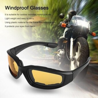 CHEER Motorcycle Glasses Windproof Dustproof Eye Glasses Goggles Outdoor Glasses YELLOW - intl