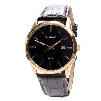 Citizen Watch Quartz Brown Stainless-Steel Case Leather Strap Mens BI5002-06E