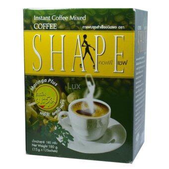 Coffee Shape คอฟฟี่เชฟ กาแฟผสมมะรุม พลัสมอลินก้า กาแฟลดน้ำหนักเพื่อสุขภาพ หุ่นสวย สั่งได้ บรรจุ 12 ซอง (1 กล่อง) (image 0)