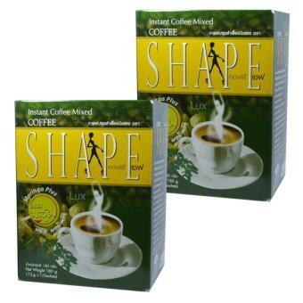 Coffee Shape คอฟฟี่เชฟ กาแฟผสมมะรุม พลัสมอลินก้า กาแฟลดน้ำหนักเพื่อสุขภาพ หุ่นสวย สั่งได้ บรรจุ 12 ซอง (2 กล่อง)