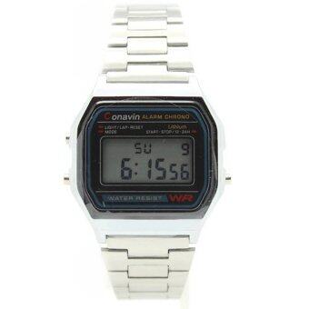 ราคา CONAVIN นาฬิกาข้อมือ ระบบ Digital เรือนเหล็ก สายเหล็ก ปลุก,จับเวลา วันที่,สัปดาร์ รุ่น DIG-99