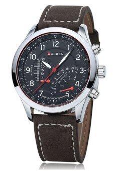 Curren นาฬิกาข้อมือผู้ชาย สีดำ สายหนัง รุ่น C8152