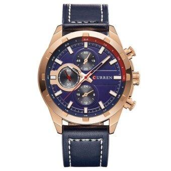 CURREN Sport watches Small Dial Decoration 30m Waterproof Quartz Men Watch Black Fashion Man Wristwatch - intl - 2