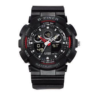 D-ZINER นาฬิกาทรงสปอร์ต รุ่น DZ-8185ดำแดง