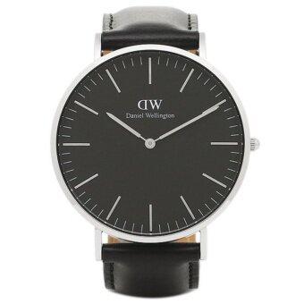 Daniel Wellington DW00100133 Classic Black Sheffield Horloge 40mm นาฬิกาข้อมือ แฟชั่น ผู้ชาย สายหนัง สีดำ Men Watch - Black Dial Black Strap