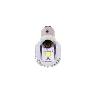 DC12V-24V White LED Beam Motorcycle Hi/Lo Headlight Light Bulb H6BA20D COB - intl
