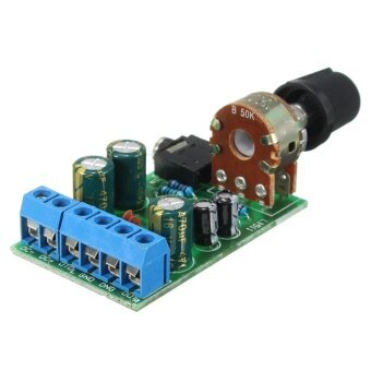 Harga DC1.8-12V TDA2822M Amplifier 2.0 Channel Stereo 3.5mm AUX Audio Amp Board Module - intl