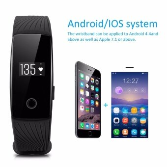 Harga Diggro Bluetooth 4.0 Smart Band Bracelet Heart Rate Monitor Wristband Activity Fitness Tracker vs miband 2 for IOS Android - intl
