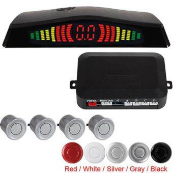 Digital LED Car Parking Sensor System with 4 Sensors (Black) - intl