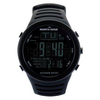 นาฬิกาดิจิตอลผู้ชาย ด้วยเครื่องวัดความสูงเครื่องวัดความสูงวัดระดับความสูงสำหรับการปีนเขาไต่เขาการตกปลากีฬากลางแจ้ง