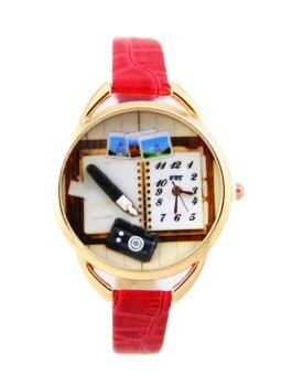 DM 2D Korean Style - Red Leather Strap