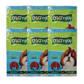 รีวิว Dog 'n Joy - ด็อกเอ็นจอย เจอร์กี้ สติ๊ก ขนมสุนัข รสนม ขนาด70กรัมจำนวน 6 ซอง