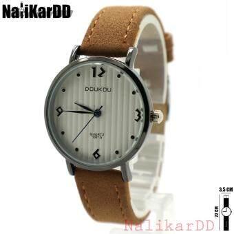 ราคา DOUKOU Watch นาฬิกาข้อมือผู้หญิงและเด็ก หน้าปัดลูกฟูก สายหนัง ระบบเข็ม