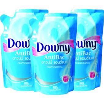 Downy น้ำยาปรับผ้านุ่ม ดาวน์นี่ แอนติแบค Refill ขนาด 330ml. แพ็ค3ถุง